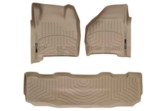 WeatherTech 45002-1-2 Tan FloorLiner Set for 1999-2007 Ford 7.3L, 6.0L Powerstroke