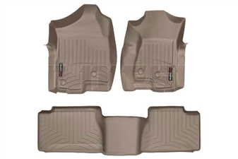 WeatherTech 45003-1-4 Tan FloorLiner Set for 2001-2007 GM 6.6L Duramax LB7, LLY, LBZ