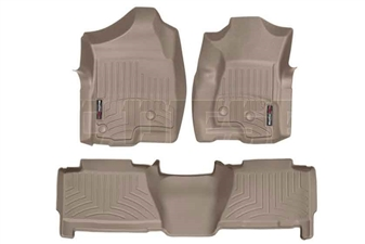 WeatherTech 450031-450612 Tan FloorLiner Set for 2001-2003 GM 6.6L Duramax LB7