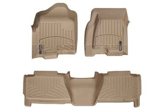 WeatherTech 450031-450625 Tan FloorLiner Set for 2004-2007 GM 6.6L Duramax LLY