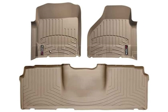 WeatherTech 45012-1-3 Tan FloorLiner Set for 2006-2009 Dodge 5.9L, 6.7L Cummins