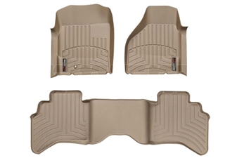 WeatherTech 450121-450042 Tan FloorLiner Set for 2003-2009 Dodge 5.9L, 6.7L Cummins