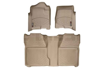 WeatherTech 45066-1-0 Tan FloorLiner Set for 2007-2014 GM 6.6L Duramax LMM, LML