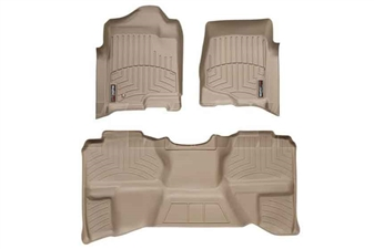 WeatherTech 45066-1-9 Tan FloorLiner Set for 2007-2013 GM 6.6L Duramax LMM, LML