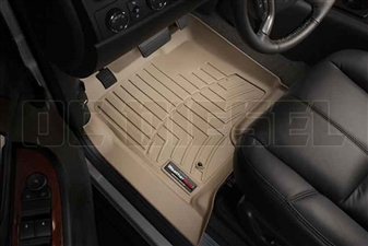 WeatherTech 450661 Tan Front FloorLiner for 2007-2014 GM 6.6L Duramax LMM, LML