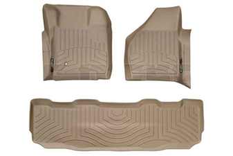 WeatherTech 451201-450022 Tan FloorLiner Set for 2008-2010 Ford 6.4L Powerstroke