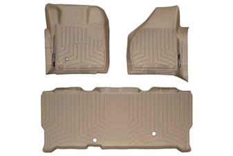WeatherTech 451201-450023 Tan FloorLiner Set for 2008-2010 Ford 6.4L Powerstroke