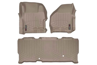 WeatherTech 451251-450023 Tan FloorLiner Set for 1999-2007 Ford 7.3L, 6.0L Powerstroke