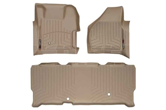 WeatherTech 451261-450023 Tan FloorLiner Set for 2008-2010 Ford 6.4L Powerstroke