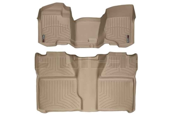 WeatherTech 452941-450660 Tan FloorLiner Set for 2007-2014 GM 6.6L Duramax LMM, LML