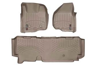 WeatherTech 45305-1-3 Tan FloorLiner Set for 2011-2012 Ford 6.7L Powerstroke