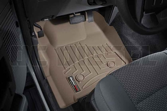 WeatherTech 453051 Tan Front FloorLiner for 2011-2012 Ford 6.7L Powerstroke