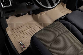 WeatherTech 453281 Tan Front FloorLiner for 2010-2012 Dodge 6.7LCummins