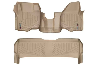 WeatherTech 453291-453052 Tan FloorLiner Set for 2011-2012 Ford 6.7L Powerstroke