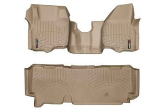 WeatherTech 453291-453053 Tan FloorLiner Set for 2011-2012 Ford 6.7L Powerstroke