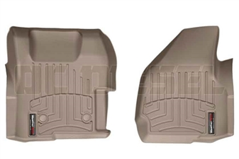 WeatherTech 454221 Tan Front FloorLiner for 2011-2012 Ford 6.7L Powerstroke