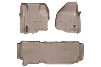 WeatherTech 454261-453053 Tan FloorLiner Set for 2011-2012 Ford 6.7L Powerstroke
