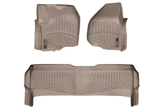 WeatherTech 454331-453052 Tan Front FloorLiner for 2012-2016 Ford 6.7L Powerstroke