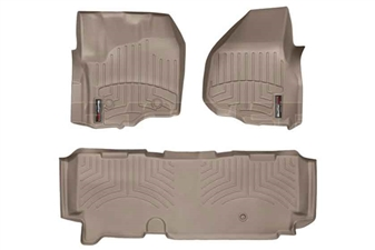 WeatherTech 454331-453053 Tan FloorLiner Set for 2012-2016 Ford 6.7L Powerstroke