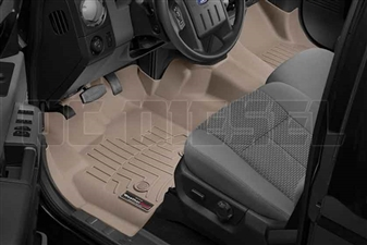 WeatherTech 454341 Tan Front FloorLiner for 2012-2016 Ford 6.7L Powerstroke