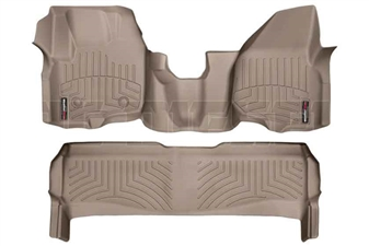 WeatherTech 454341-453052 Tan FloorLiner Set for 2012-2016 Ford 6.7L Powerstroke