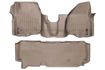 WeatherTech 454341-453053 Tan FloorLiner Set for 2012-2016 Ford 6.7L Powerstroke