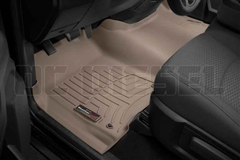 WeatherTech 454641 Tan Front FloorLiner for 2012-2016 Dodge 6.7L Cummins