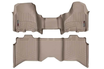 WeatherTech 454771-452163 Tan FloorLiner Set for 2012-2017 Dodge 6.7L Cummins