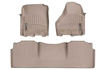 WeatherTech 454781-454772 Tan FloorLiner Set for 2012-2017 Dodge 6.7L Cummins