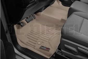 WeatherTech 455451 Tan Front FloorLiner for 2014-2017 GM 6.6L Duramax LML, LP5
