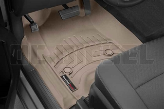 WeatherTech 456071 Tan Front FloorLiner for 2014-2017 GM 6.6L Duramax LML, LP5