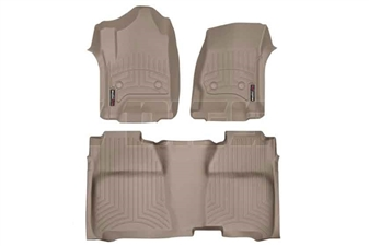 WeatherTech 456071-455422 Tan FloorLiner Set for 2014-2017 GM 6.6L Duramax LML, LP5