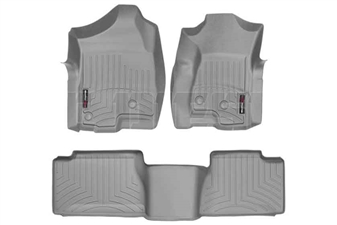WeatherTech 46003-1-4 Grey FloorLiner Set for 2001-2007 GM 6.6L Duramax LB7, LLY, LBZ