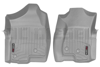 WeatherTech 460031 Grey Front FloorLiner for 2001-2007 GM 6.6L Duramax LB7, LLY, LBZ