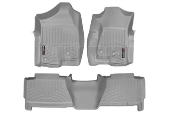 WeatherTech 460031-460612 Grey FloorLiner Set for 2001-2003 GM 6.6L Duramax LB7