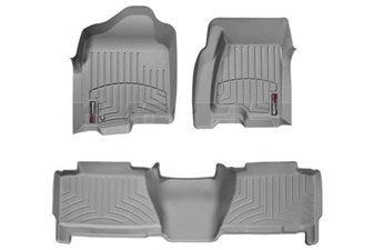 WeatherTech 460031-460625 Grey FloorLiner Set for 2004-2007 GM 6.6L Duramax LLY