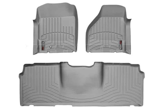 WeatherTech 460041-460123 Grey FloorLiner Set for 2006-2009 Dodge 5.9L, 6.7L Cummins