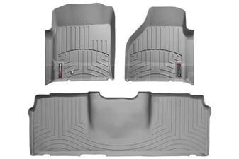 WeatherTech 46012-1-3 Grey FloorLiner Set for 2006-2009 Dodge 5.9L, 6.7L Cummins