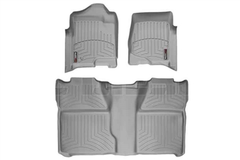 WeatherTech 46066-1-0 Grey FloorLiner Set for 2007-2014 GM 6.6L Duramax LMM, LML