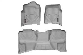 WeatherTech 46066-1-9 Grey FloorLiner Set for 2007-2013 GM 6.6L Duramax LMM, LML