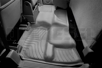 WeatherTech 460669 Grey Rear FloorLiner for 2007-2013 GM 6.6L Duramax LMM, LML