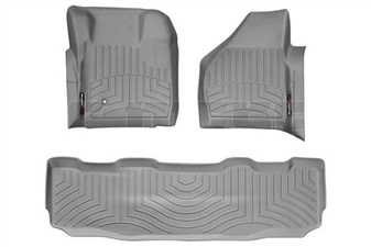 WeatherTech 461201-460022 Grey FloorLiner Set for 2008-2010 Ford 6.4L Powerstroke