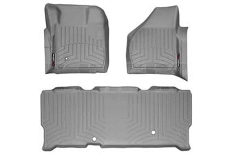 WeatherTech 461201-460023 Grey FloorLiner Set for 2008-2010 Ford 6.4L Powerstroke