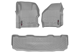 WeatherTech 461251-460022 Grey FloorLiner Set for 1999-2007 Ford 7.3L, 6.0L Powerstroke
