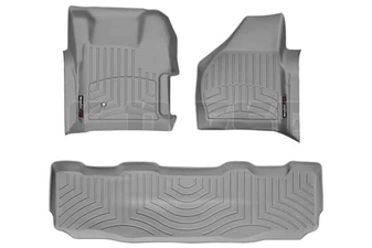 WeatherTech 461261-460022 Grey FloorLiner Set for 2008-2010 Ford 6.4L Powerstroke