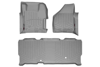 WeatherTech 461261-460023 Grey FloorLiner Set for 2008-2010 Ford 6.4L Powerstroke