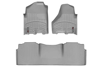 WeatherTech 462161-464772 Grey FloorLiner Set for 2010-2012 Dodge 6.7LCummins