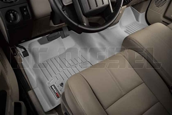 WeatherTech 462931 Grey Front FloorLiner for 2008-2010 Ford 6.4L Powerstroke