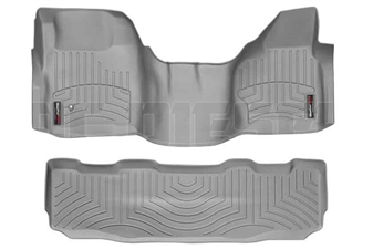 WeatherTech 462931-460022 Grey FloorLiner Set for 2008-2010 Ford 6.4L Powerstroke