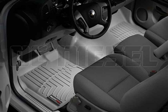 WeatherTech 462941 Grey Front FloorLiner for 2007-2014 GM 6.6L Duramax LMM, LML